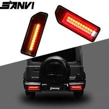 SANVI 2pcs Full Tail Light Assembly for  Suzuki JIMNY With LED Fog Running Brake light JIMNY2018 2019