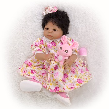 bebes Reborn Doll Toys For Girl Realistic african ethnic doll silicone Reborn toddler Baby For childen gift doll 2020 new hot