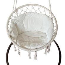 Macrame Cushion Sofa Pads with Tassels for Hanging Hammock Chair Swing Seat Pads Yoga Cushions