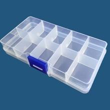 Plastic Box Organizer Case Jewelry Storing 10-Grid-Storage-Box Transparent Beads Pill-Screw