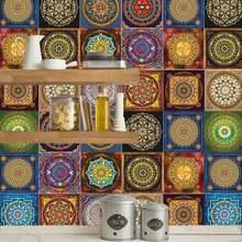 Стикеры для мозаичной плитки в стиле мандалы гостиной кухни
