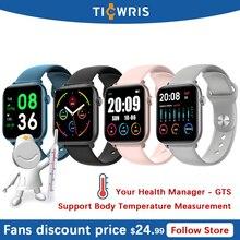 TICWRIS KW37 PRO Body Temperature Measurement Bracelet Women Smart Watch Heart Rate Monitor GTS Smartwatch Men Fitness Tracker