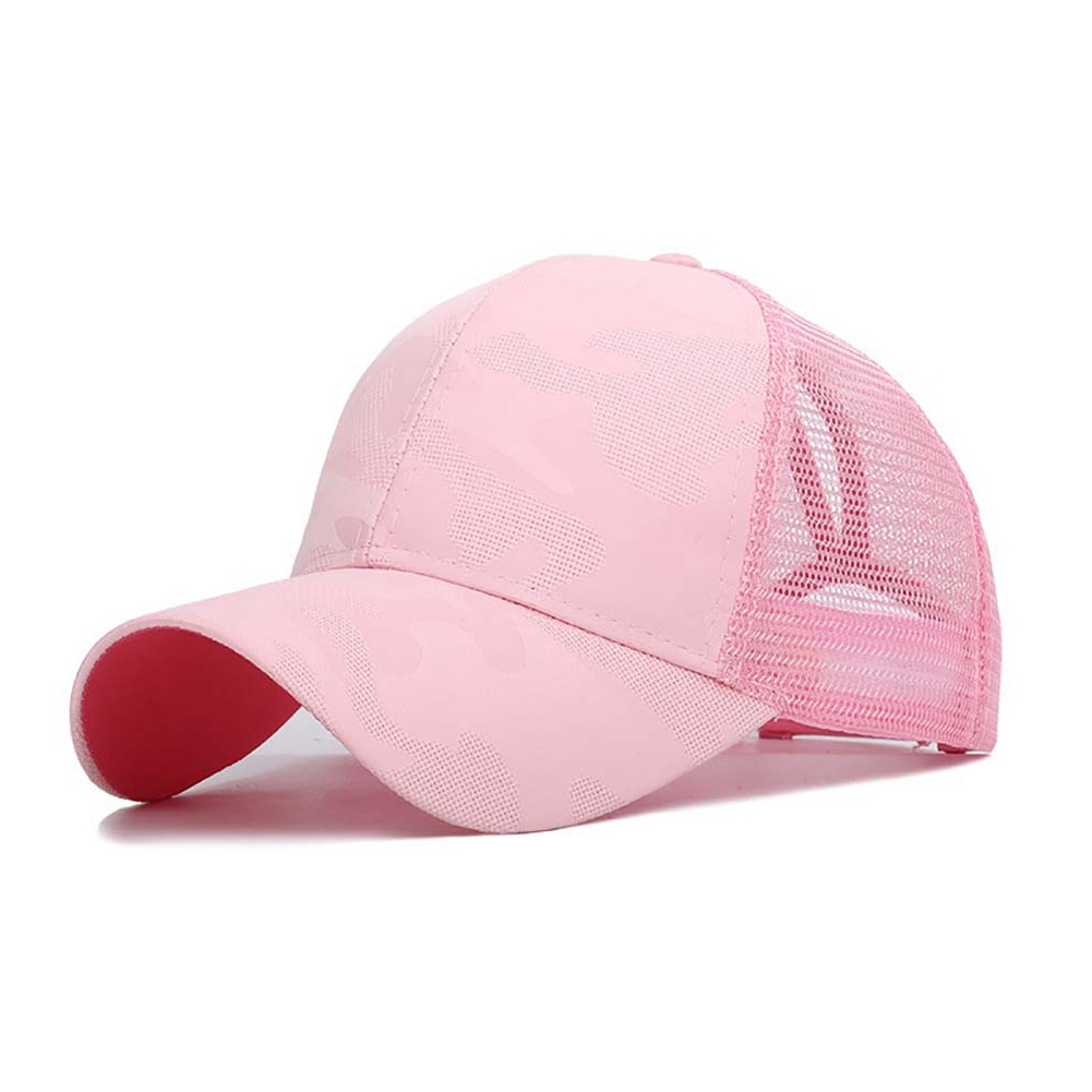 Clothing - Sunshade Baseball Cap, Breathable Cotton Ponytail Hat, Outdoor Sports Wear With Adjustable Back Closure