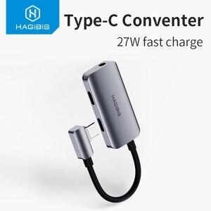 Image 5 - Hagibis Type C منظم USB C إلى 3.5 مللي متر سماعة جاك محول PD سريع تهمة نوع c الصوت لهواوي P30 برو شاومي Oneplus