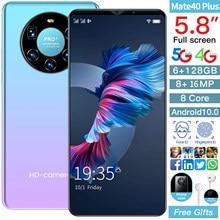Küresel sürüm Mate 40 artı 4G Smartphone 6.1 inç 8 + 16MP cep telefon çift Sim kartı 6GB RAM + 128GB ROM
