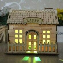 Праздничный светодиодный светильник, деревянный дом, Рождественская елка, украшения для Висячие украшения для дома, праздничный хороший рождественский подарок, свадебный Navidad