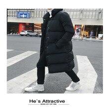 Winter Jakcet Men Long Parka Hombre Fashion Men Clothes 2020 Korean Thick Warm Coat Black Casaco Masculino Hiver 18LW1235