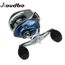 Jioudao carretel de arremesso de alta velocidade 6.3:1 relação engrenagem 8 + 1bb fresco/sistema freio magnético água salgada carretel de pesca baitcast