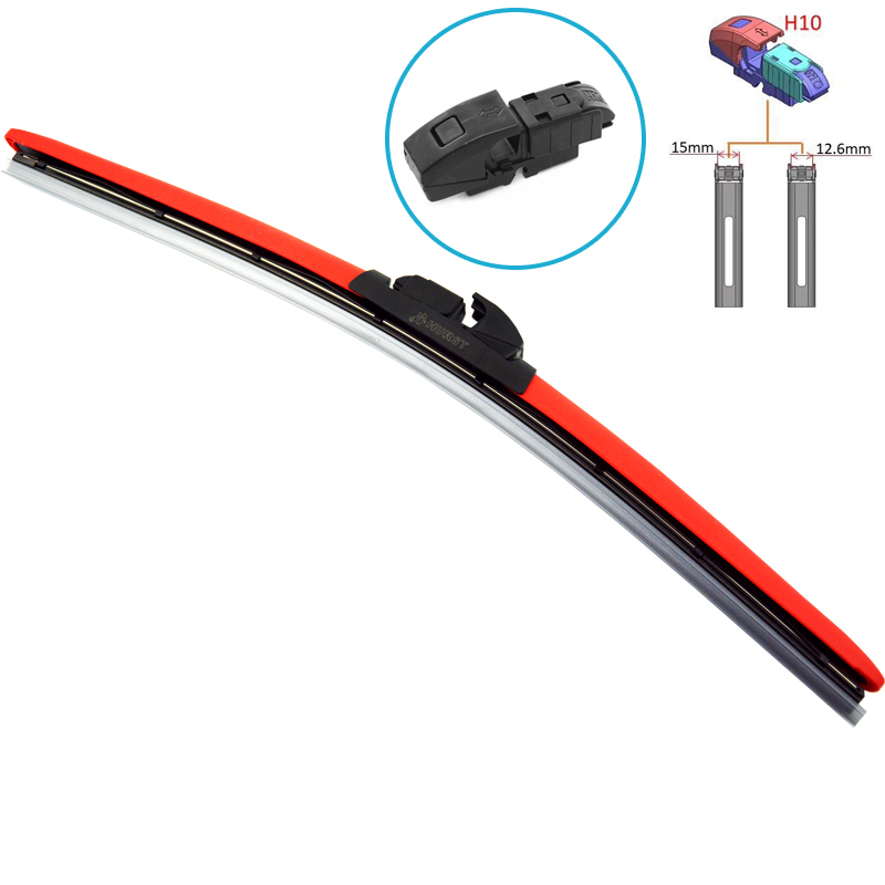 HESITE Colorful Windscreen Wiper Blade 14 16 17 18 19 <font><b>20</b></font> 21 22 24 Inch Windshield Front Wipers For Audi <font><b>BMW</b></font> VW Ford Kia Toyota image