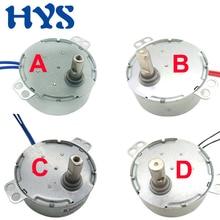HYS Motor AC 5V  6V 9V 12V 24V 110V 220V Mini Gear 0.9 - 70RPM Permanent Magnet Synchronous CW CCW 12 Volt fan TYC-50