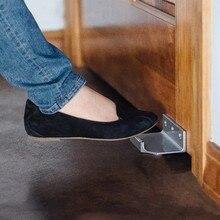 Hands Free Touchless Foot Door Opener Handle Bracket Thick Steel Metal Protection Home Foot Door Opener Tools Accessories