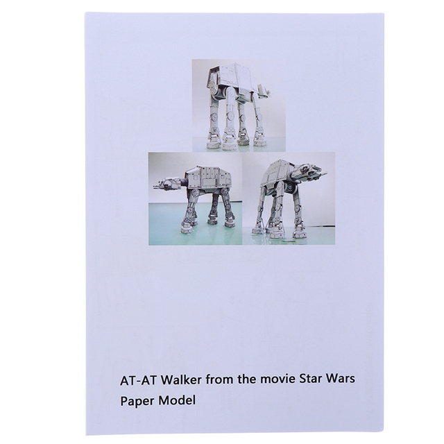 20cm Length All Terrain Armored Walker AT-AT 3D Paper Model Paper craft Toys 6