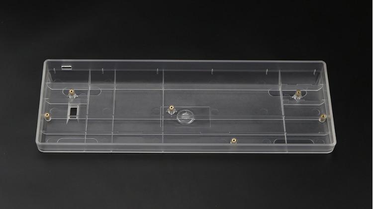 Clear Poker Case Transparent Case Compact GH60 Plastic Case 60% Mechanical Keyboard  Gh 60 Poker2  Faceu 60 Base Frame