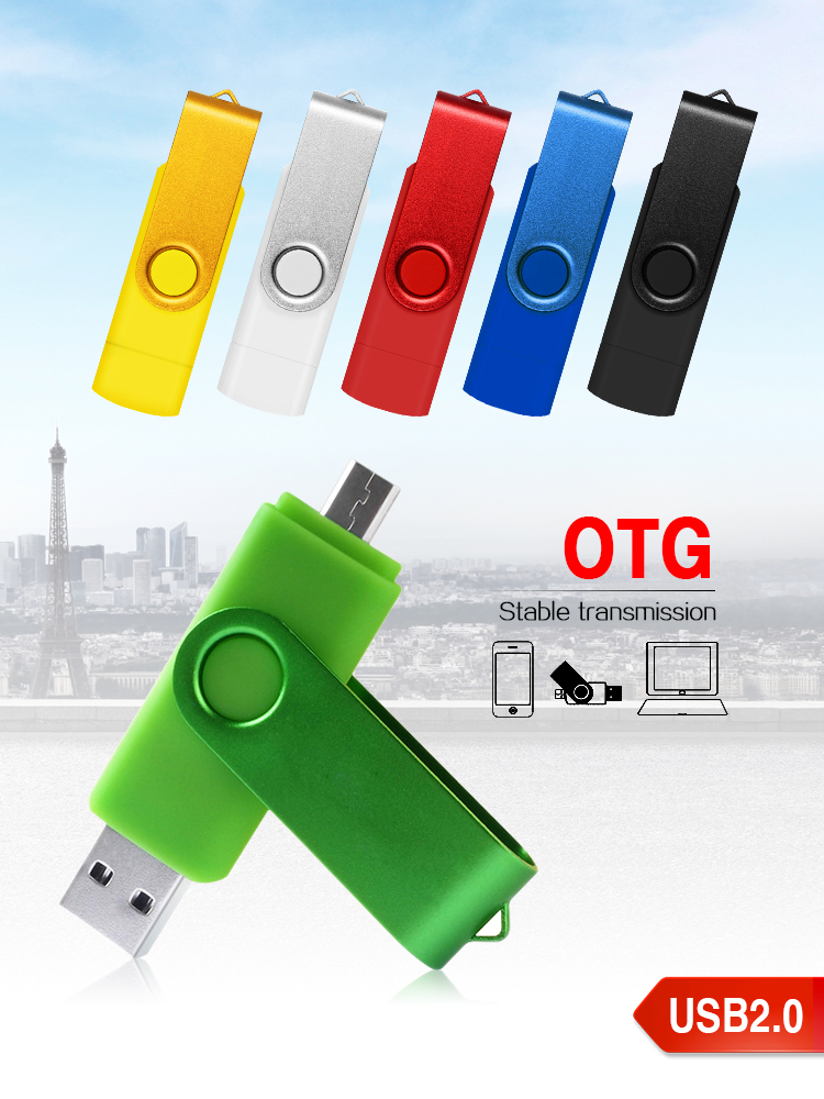 High Speed  USB OTG Flash Drive 64GB 32GB 16GB External Flash Memory Cheap Memoria Usb Pen Drive Disk Drive Usb 2,0 Flash Disc