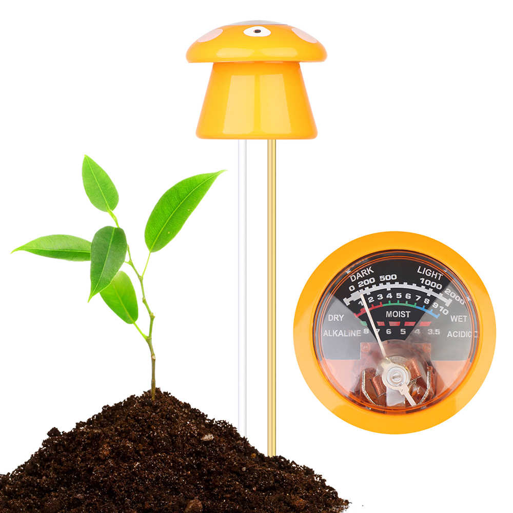 3-в-1 в форме гриба ph-метр не требуется никаких батарей влаги/светильник/pH тестер садовый инструмент Наборы садовое растение уход