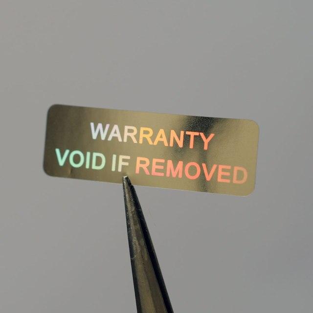 אחריות VOID אם להסיר 10x30mm אבטחת הולוגרמה עבור אחד זמן שימוש כסף צבע הולוגרפי מדבקה עבור מוצרי freeshipping