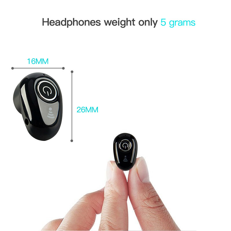 S650 Mini Bluetooth Earphone Sport Wireless Headphone In-Ear Headset with Mic Invisible Earbud Handsfree Stereo for Phone