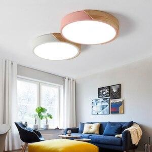 Image 2 - 5 センチメートル超薄型ledシーリングライトリビングルームの照明用調光可能な現代天井ランプ北欧ベッドルームキッズルームplafonnier led