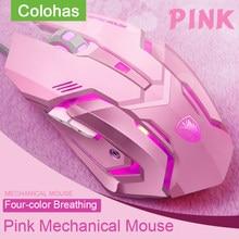 USB kablolu mekanik oyun faresi dizüstü Macbook PC oyun bilgisayar fare fare oyun 3200DPI sihirli fare fare oyun kız için