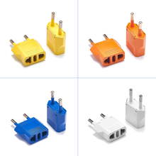 Sockets Converter-Plug-Adapter Electrical-Converter-Power-Charger Us-To-Eu-Plug Colorful
