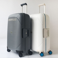 20 24 28 inch spinner PP rolling luggage hardside cabin trolley suitcase case travel box
