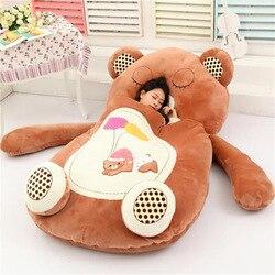 [Топ] Очень милый спальный мешок с мультипликационным принтом, мягкий коврик для кровати с изображением кота, лягушки, обезьяны, медведя, див...