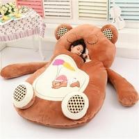 [Top] Very cute cartoon Sleeping Bag soft animal Cat Frog Monkey Bear Bed Carpet Tatami Sofa mat Beanbag plush toy kids gift