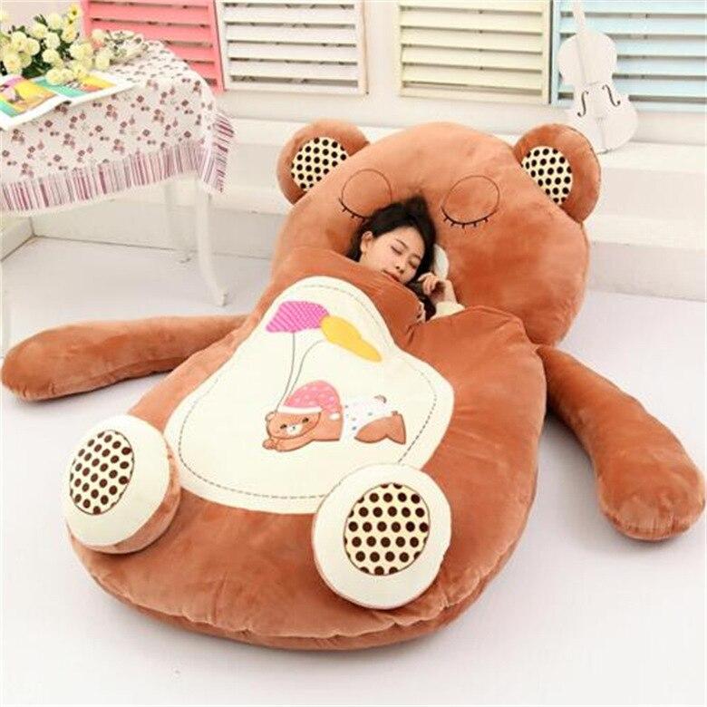 [Top] très mignon dessin animé sac de couchage doux animal chat grenouille singe ours lit tapis Tatami canapé tapis pouf en peluche jouet enfants cadeau