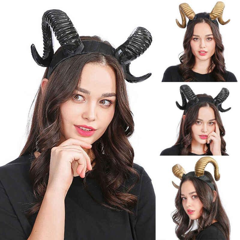 Artificial Goat Horn Girls Fashion Hair Band Headband Hair Hoop Xmas Gifts