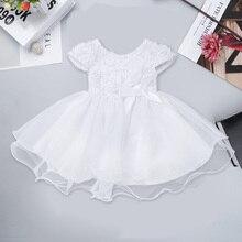 FEESHOW Newborn Dress Infant Baby Girl Dress Baby Dress Wedd