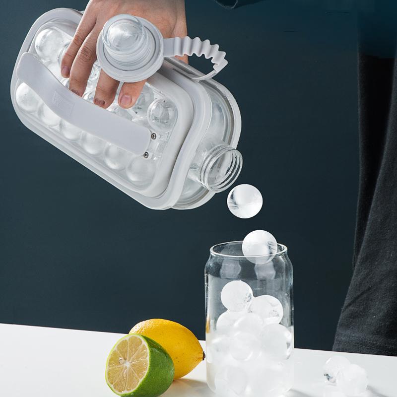 Шарика льда чайник 2-в-1 Портативный льда чайник ледяной куб Maker контейнер с крышкой для коктейлей со льдом Кофе дома вечерние на открытом воз...
