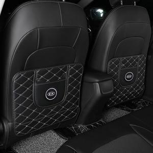 Image 1 - 1Pc Auto Anti Kick Pad Waterdicht Anti Modder Vuil Seat Protector Back Cover Voor Kia Motors Cerato Sportage R K2 K3 K5 Accessoires
