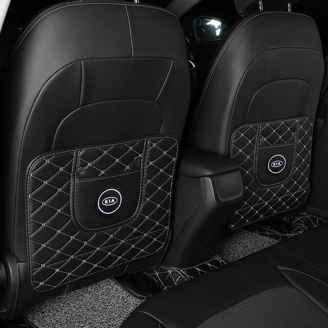 1Pc Auto Anti Kick Pad Waterdicht Anti Modder Vuil Seat Protector Back Cover Voor Kia Motors Cerato Sportage R K2 K3 K5 Accessoires