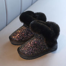 Girls Boots Plush-Shoes Pink Baby Black Winter Kids Children Warm Ankle for Beautiful