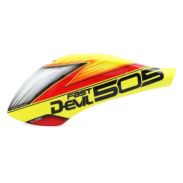 ALZRC Devil 505 auvent de peinture en fibre de verre rapide 137G 505 pièces dhélicoptère P B
