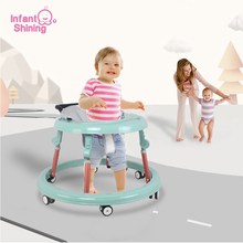 Infant Shining Baby Walker Folding Learn To Walk Infant Walkers Children Multi-function Kid's Bicycle Safety Babys Riding Walker