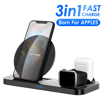 3 in 1 Wireless Charging Stand For Apple Watch 5 4 3 2 1 for iPhone 11 X XS XR 8 Airpods Pro 10W Qi Fast Charger Dock Station