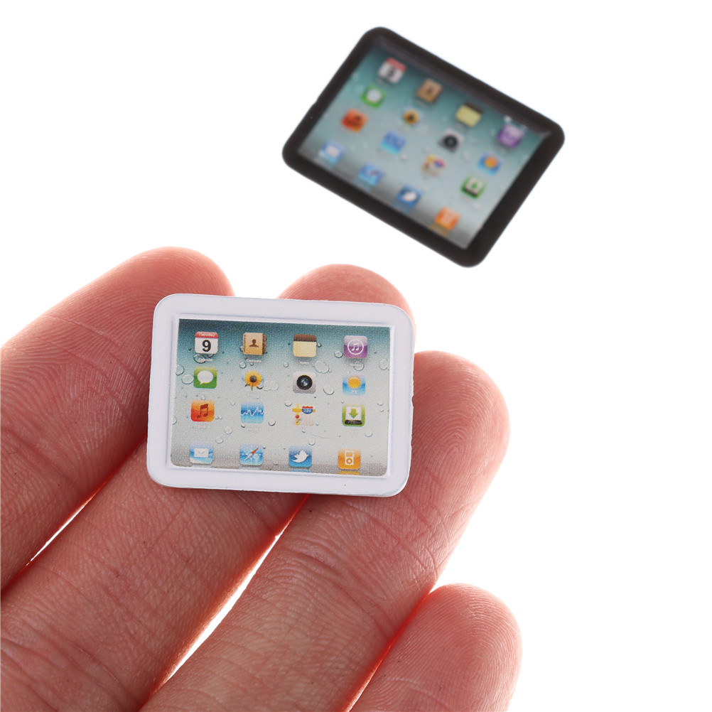 New Sale 1/12 Dollhouse Miniature Accessories Mini Computer Model Simulation Tablet PC Toys Doll House Decoration Furniture Toys