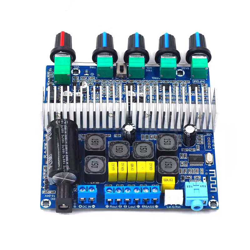 H2068064621054810b8c27ff3537c7c22u - 2*50W+100W TPA3116 Bluetooth HIFI Power Subwoofer Amplifier Board 2.1 Channel TPA3116D2  Audio Stereo equalizer Amp