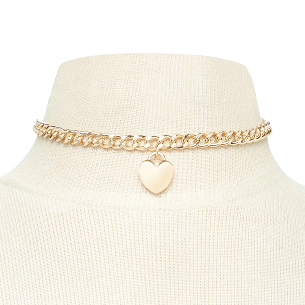 cheap nike womens shoes Women Fashion Heart Shaped Pendant Choker Chain Necklace Party pearl choker necklace near me Jewelry Gift Pendant Choker Chain Necklace Party Jewelry Gift Pen best black friday sales online Choker Necklaces tr4610665