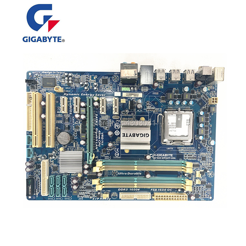 For Gigabyte GA EP43T S3L Original Used Desktop Motherboard EP43T S3L P43 Socket LGA 775 DDR3 ATX On Sale|Motherboards|   - AliExpress
