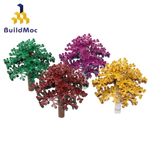 Colorful Tree Green Bush Home Plants DIY branch petals Garden Building Blocks Toy Botany City MOC Accessories Parts Brick Blocks
