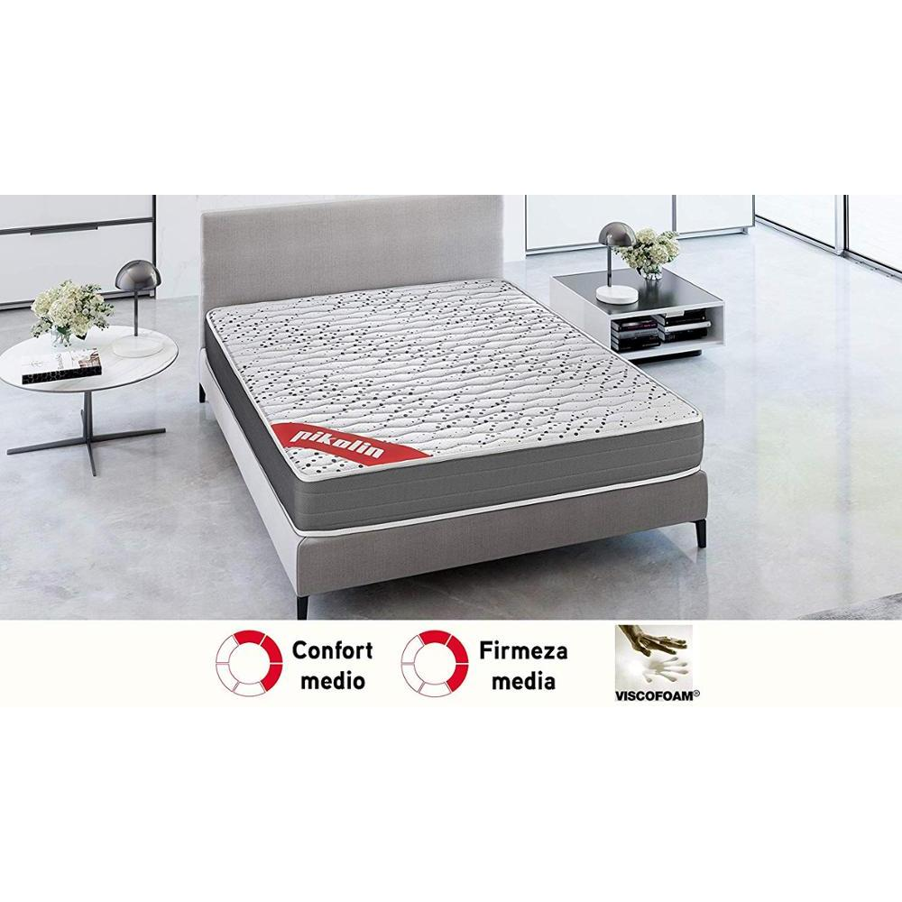 PIKOLIN, Sigeo, HR Foam Mattress Viscoelastic, Reversible, Highest Quality, Young, Comfort And Firmly Half, Alt 22 Cm
