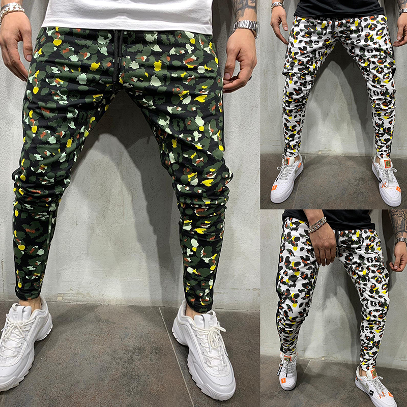 2019 New Joggers Men Hot Sale Casual Camouflage Pants Quality 100% Cotton Elastic Comfortable Trousers Plus Size S-3XL