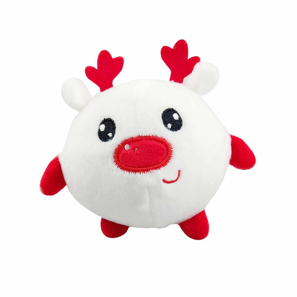 10 centímetros Brinquedos De Pelúcia Bonito Nova Cute Suave Plush Santa Boneco de Neve Fawn Boneca Elf Saco de Jóias Pingente de Chave Máquina Agarrando boneca de pelúcia