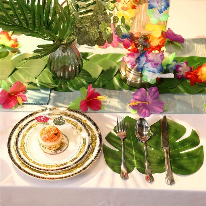 hawaiian decor aloha style tropical home decorating ideas.htm a set of hawaiian party decorations palm leaf hawaii tropical  hawaiian party decorations palm leaf