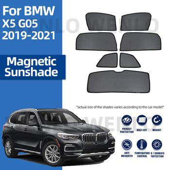 Dla BMW X5 G05 2019 2020 2021 ramki magnetyczne samochodów osłona przeciwsłoneczna na boczną szybę Uv Mesh osłona przeciwsłoneczna zasłony do szkła cieniowania dostaw tanie i dobre opinie wenlo z włókien syntetycznych CN (pochodzenie) Zwykłe Side Window Shades Customized For BMW Car Window Sun Shade Black