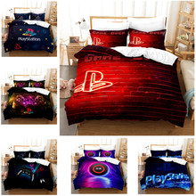 Printed Bedding Set 2/3pcs 3D Soft quilt cover Duvet Cover Set Twin Full Queen King Size Home Textile Geometry Play Station