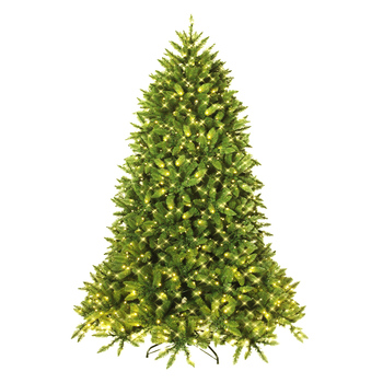 Costway 5ft Pre-lit PVC Christmas Fir Tree Hinged 8 Flash Modes