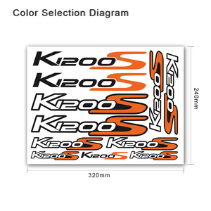 Image 3 - For BMW K1200S k1200 s k 1200s k 1200 s k1200s   Motorcycle body Decoration Stickers Front Rear Fairing Decal Reflective Sticker